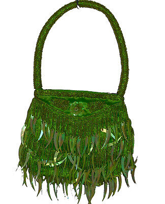 Beaded bags - Party - Evening - Top Handle green