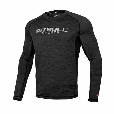 3822a9281 Pit Bull West Coast Rash Guard MMA BJJ Fightwear Rashguard Compression  Graphite
