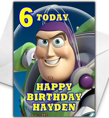 BUZZ LIGHTYEAR Personalised Birthday / Christmas / Card - Large A5 - Toy Story