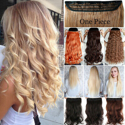 ON CLEARANCE Real Thick CLIP IN HAIR EXTENTIONS 3/4 FULL HEAD One Piece New Fake