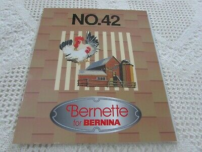 Brother Bernina White Babylock #42 FARM ANIMALS Embroidery Card EXCELLENT HTF