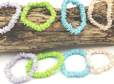 8 x Puka Shell Bracelet Unisex Ethnic Beach Holiday Jewellery Wholesale PBx8