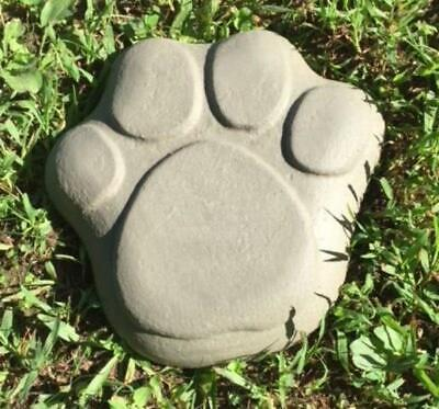 "Dog Paw Print Stepping Stone Concrete Plastic Mold Cement 12""x 2""  DIY Mould"