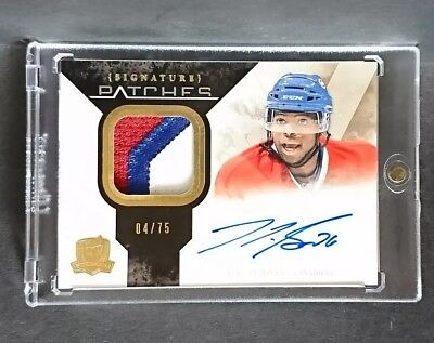 10-11 UD The Cup Rookie Signature PK Subban Auto Patch /75 SP habs