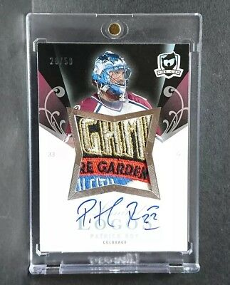 07/08 The Cup Patrick Roy Limited Logos Patch Auto /50