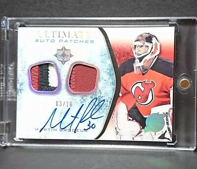 Martin Brodeur 2010-11 Ultimate auto patches 03/10 Auto jersey