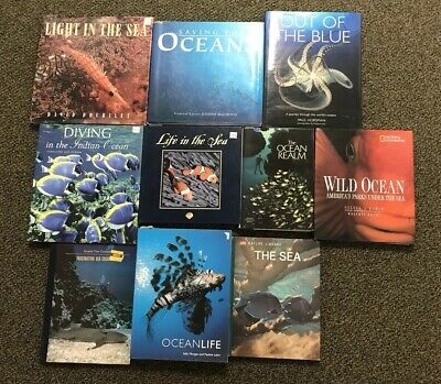 Lot Of 10 Ocean Life Sea Life Saving The Oceans Hardback Book Lot