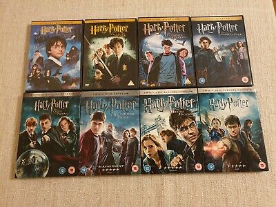 Harry Potter 1-8 Movie Complete Collection Films DVD Boxset 4x Special Editions