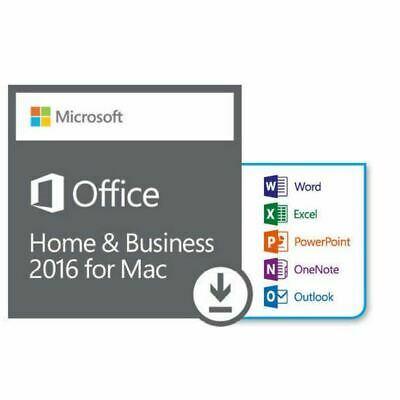 Microsoft Office Home and Business 2016 For Mac 1 User Same Day Delivery