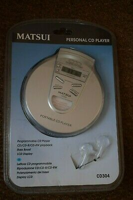 Matsui CD 304 CD304 Personal CD Player New Sealed No Earphones Retro