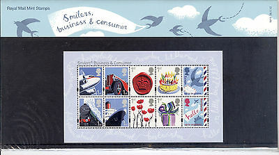 2010 GB, 'SMILERS, BUSINESS & CONSUMERS', Royal Mail Presentation Pack (No.M19)