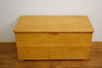 Antique Pine Victorian Waxed Blanket Chest / Bedding Box / Coffee Table Chest