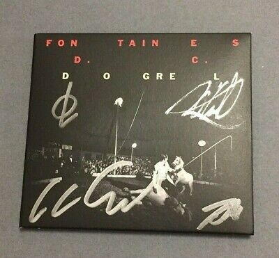 FONTAINES D.C. - Dogrel CD Signed New Mint Condition with Provenance