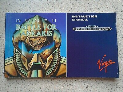 Dune 2: Battle For Arrakis Manual - Sega Mega Drive - NO GAME MANUAL ONLY (PAL)