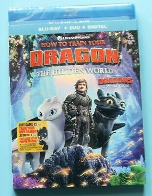 How to Train Your Dragon 3: THE HIDDEN WORLD Blu-ray/DVD, Includes Digital NEW