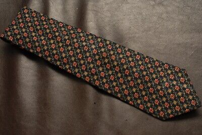 ba88bff1003e BRIONI BLACK/YELLOW/RED FLORAL pattern tie 100% silk Italy BEAUTIFUL ...