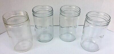 Vintage 4 Pcs. L&R Glass Containers For L&R Ultrasonic Cleaner No Lids