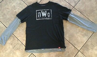 d6828fbf1 NWO WWE WCW Wrestling Long Sleeve Shirt Used Great Shape Hulk Hogan XXL  Vintage