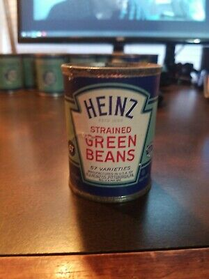 Vintage Gerbers Strained Baby Food Paper label Tin Can~ Strained Asparagus