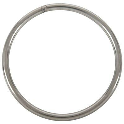 2X(M6x100mm 304 Stainless Steel Welded Round Ring Silver Tone O5V5)
