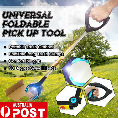 Foldable Pick Up Tool Easy Reach Grab Grabber Stick Extend Reacher UN