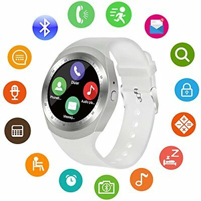 Blue-tooth Smart Women Ladies Watch Wrist Phone Mate Touch Screen for Android