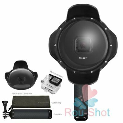 SHOOT XTGP376B Underwater Housing Flower Fisheye Lens Diving For GoPro Hero 5