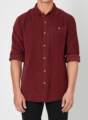 Rollas Men At Work  Shirt- Red Earth
