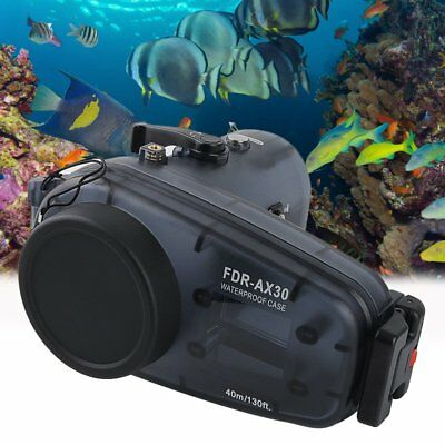 Meikon 40m/130ft Underwater Camera Cover Case Housing for Sony FDR-AX30【AU】