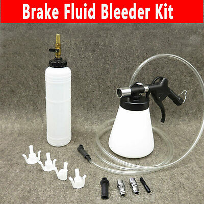 1L Air Brake Bleeder Kit Clutch Vacuum Bleeding Extractor Fluid Fill Adapters