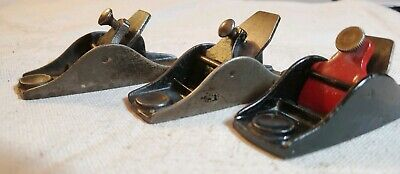 Vintage Stanley Co. Lot Of 3 #101 Block Planes, inc. 1 B casting made in USA
