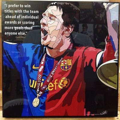 Lionel Messi Barcelona canvas quotes wall decals framed pop art poster #4
