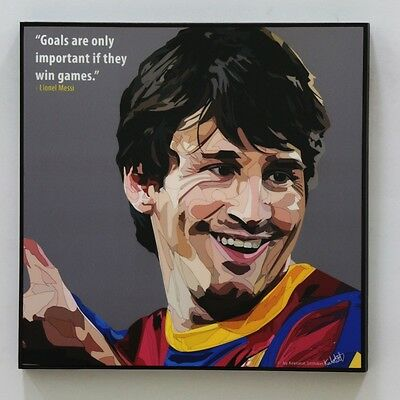 Lionel Messi Barcelona canvas quotes wall decals framed pop art poster #3