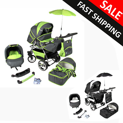 Baby pram and Pushchair Carrycot Buggy Car Seat Complete Travel System Newborn