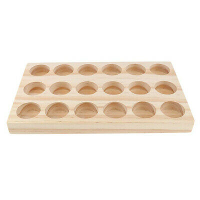 Wooden Essential Oil Tray Handmade Natural Pine Wood Display Rack Demonstration