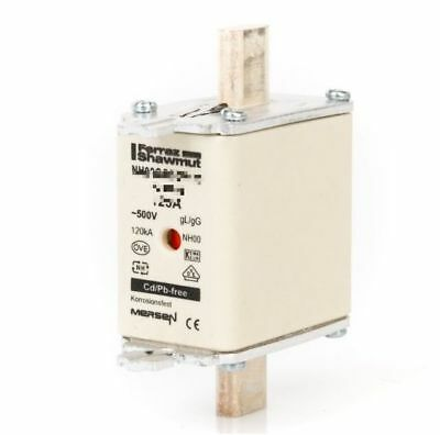 Mersen Blade Fuses 125A NH00 gL/gG Combination Indicator