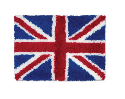 Union Jack Printed Canvas Latch Hook Rug Kit - Rug Making - Everything included