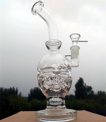 glass bongs Two functions recycler egg Water pipes recycler hookahs 14.4mm bowl