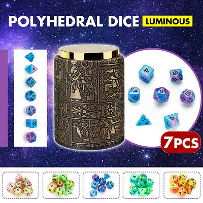7 Pcs Polyhedral Dices Card Board Games for Dungeons and Dragons w/ Dice