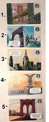 Brand New 5 Different Starbucks New York City Gift Cards No value - Free Ship!!