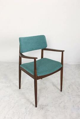 Mid Century Restored Desk Armchair in Turquoise Tweed Upholstery Austria, 1960s