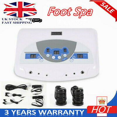 LCD Dual Ion Cell Detox Ionic Foot Bath Spa Cleanse Machine with Infrared Belt