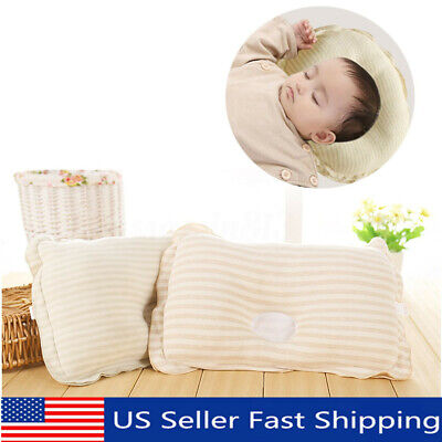 Infant Toddler Baby Soft Pillow Bedding Support Anti Flat Sleep Cotton Cushion