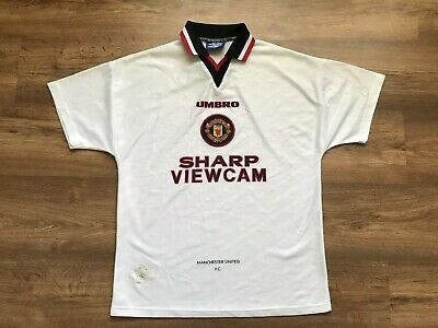 Vintage Manchester United 1996/1997 Away Football Shirt Jersey Maglia Umbro