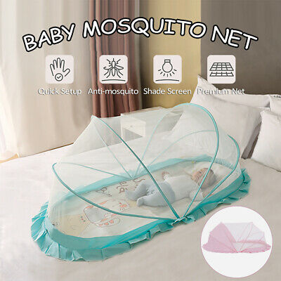 Foldable Infant Baby Mosquito Net Tent Mattress Cradle Crib Bed Canopy Cushion