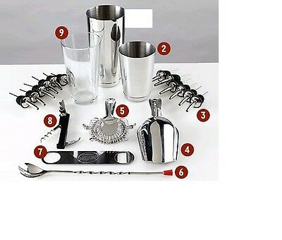 Equipment Bartender Bartender Shaker 20 Pieces Kit Inox Kit Barman