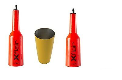 2 Flair Bottle Kit Red with Tin Boston 28oz Balanced Yellow