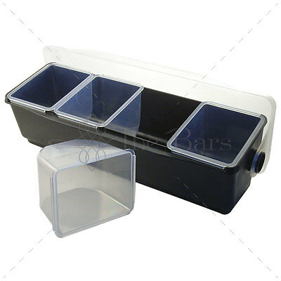 Condiment Holder to 4 Compartment Barman Bartender Tools