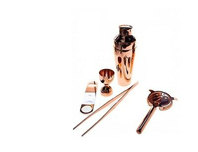 Kit Barman 5 Pieces Copper Colour Vintage Lumian Black01 Bartender