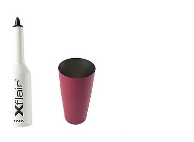 Flair Bottle Kit with White Tin Boston 28oz Balanced Fuchsia